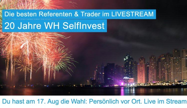 Traderhotel Event zu Ehren von 20 Jahren WH Selfinvest